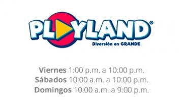 Horarios Playland